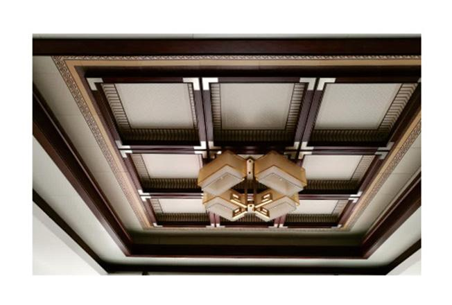 中式二级灯槽-全屋整装集成配件效果图