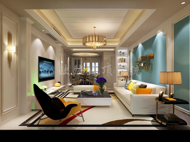 碳晶板客厅效果图1-全屋整装案例赏析效果图