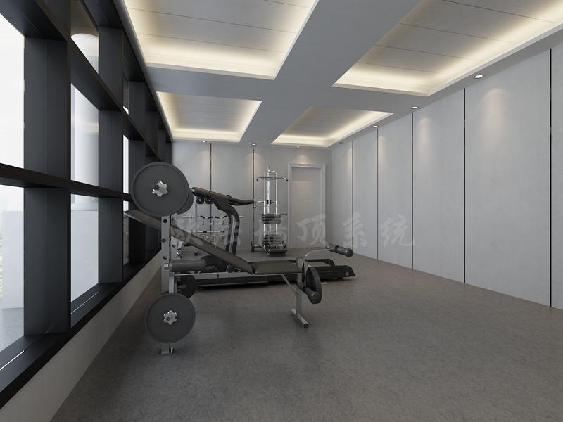碳晶板健身房效果图-全屋整装案例赏析效果图