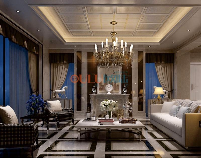 歌韵系列罗曼2 客厅吊顶-全屋整装客厅吊顶效果图