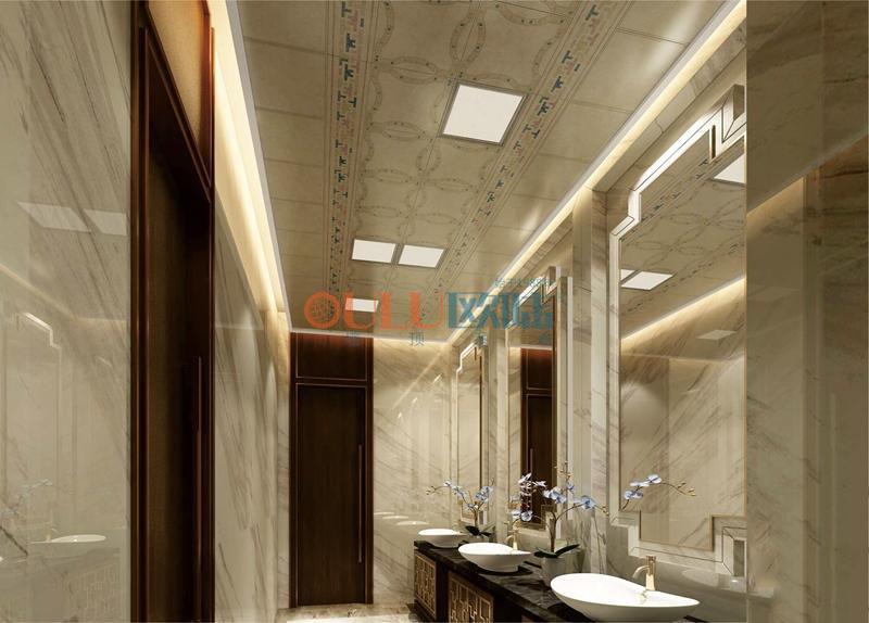 新欧式宫廷系列集成吊顶浴霸 卫浴吊顶吊顶天花与墙面效果图